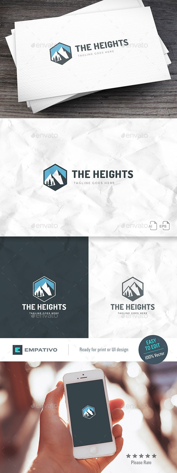 The Heights Logo Template - Nature Logo Templates