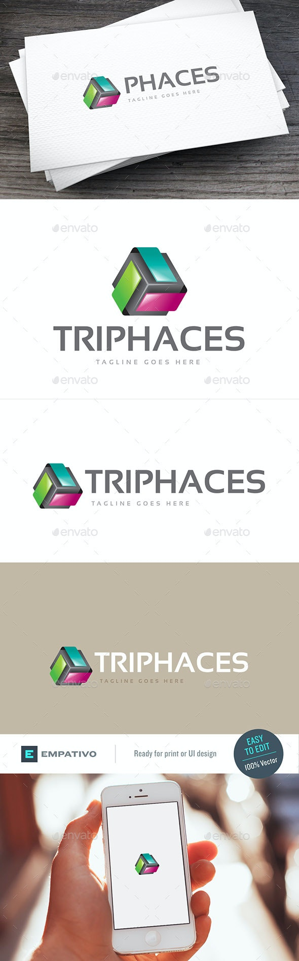 Triphaces Logo Template - Abstract Logo Templates