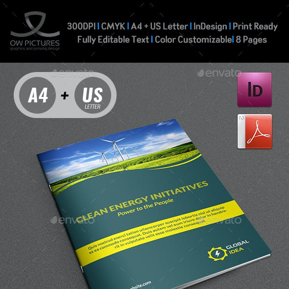 Power Energy Services Brochure Template - 8 Pages