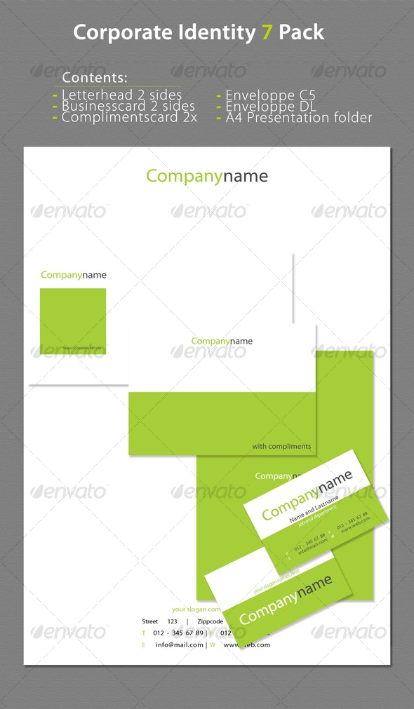 Corporate Identity 7 Pack - Stationery Print Templates