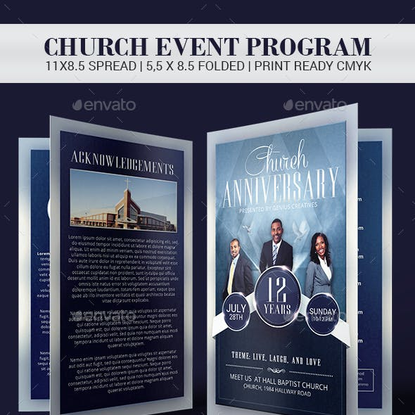 Church Anniversary Church Program