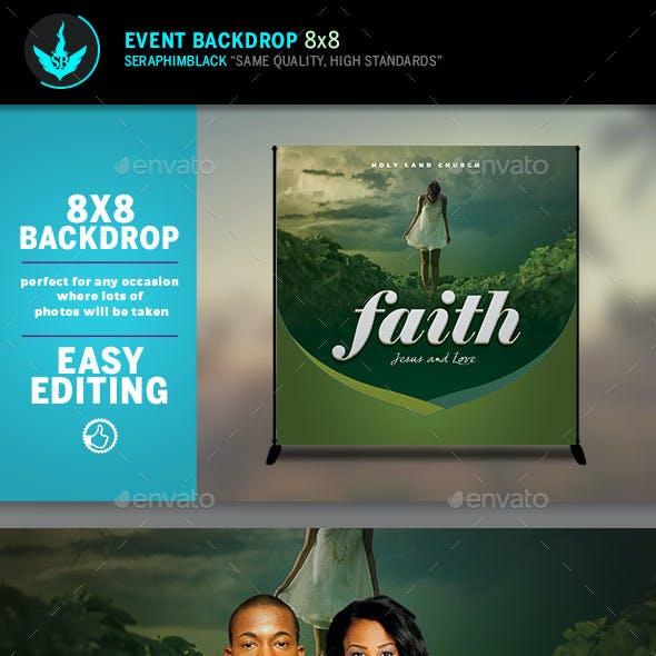 Faith 8x8 Event Backdrop Template