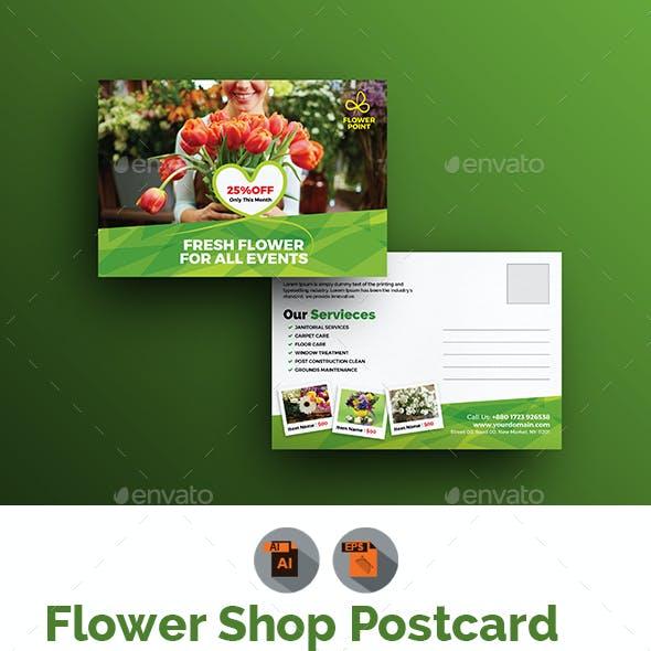 Flower Shop Postcard Template