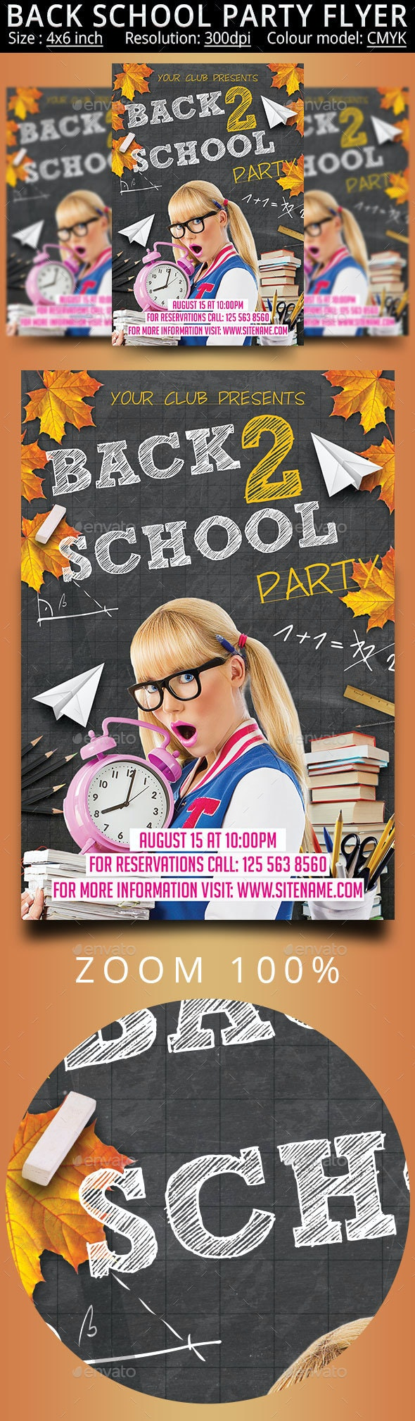 Back School - Events Flyers