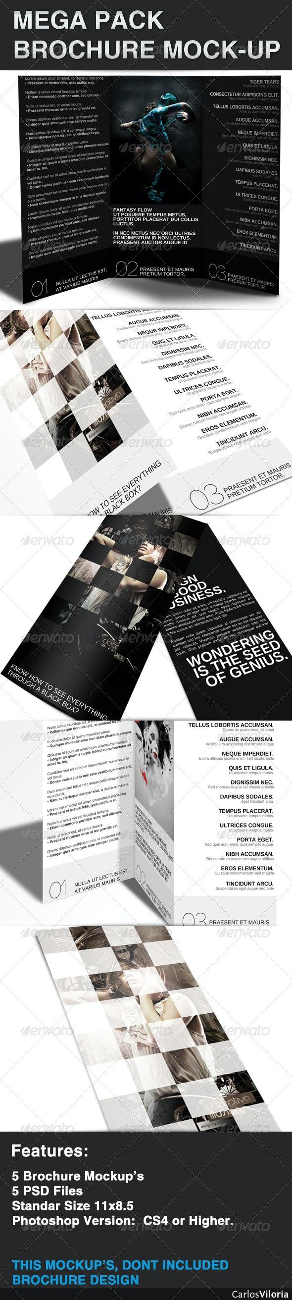 Mega pack Brochure - Mock-Up - Brochures Print