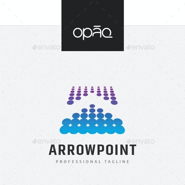 Arrow Point Dots Logo