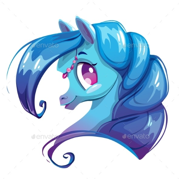 Cartoon Horse Face By Lilu330 Graphicriver