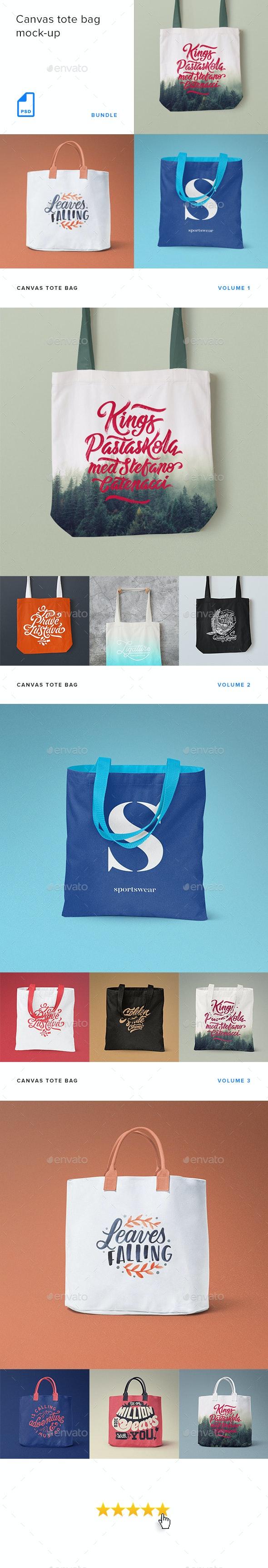 Canvas Tote Bag Mock-up Bundle - Product Mock-Ups Graphics