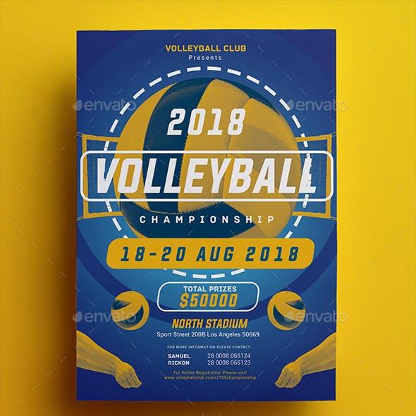 Volleyball Championship Flyer