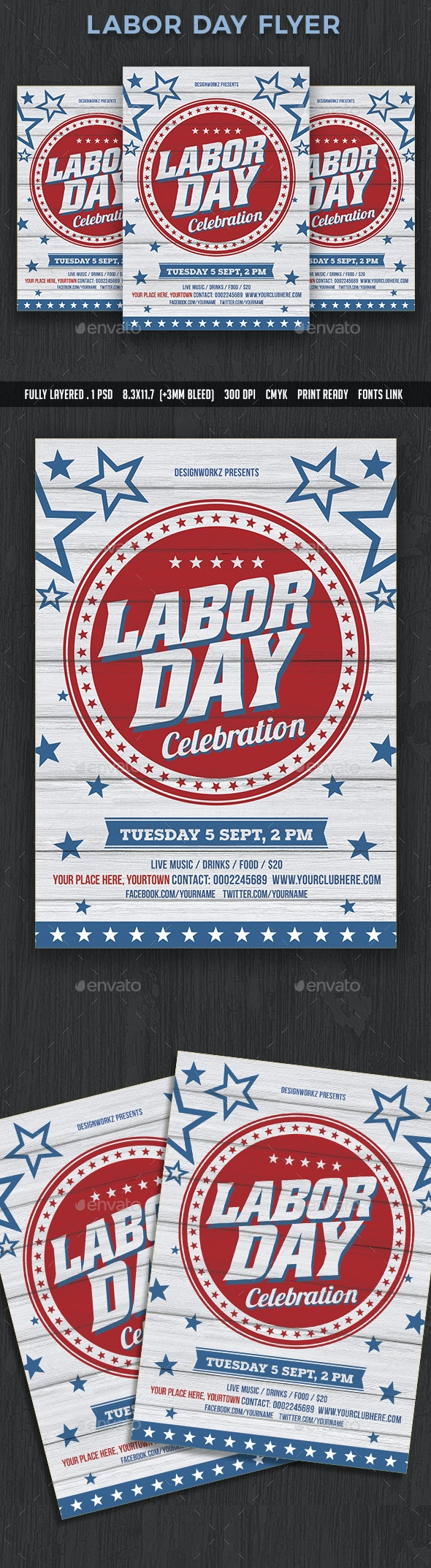 Labor Day Flyer - Events Flyers