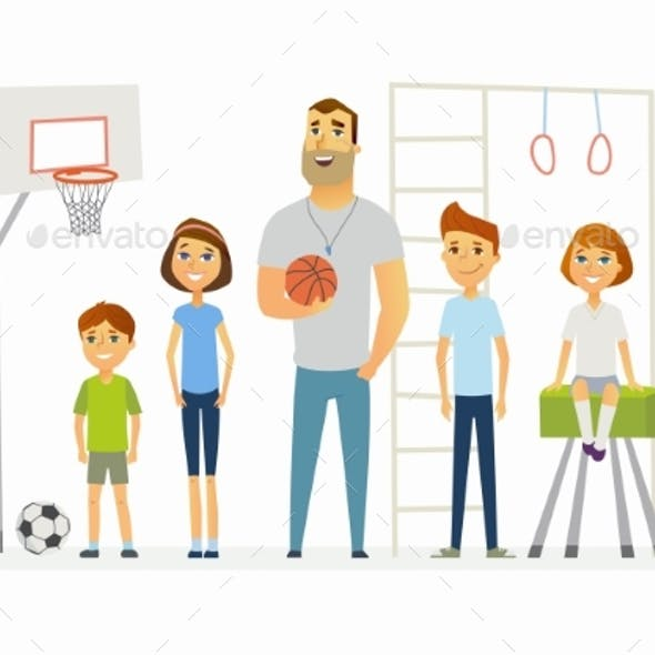 Physical Education Lesson at School - Modern