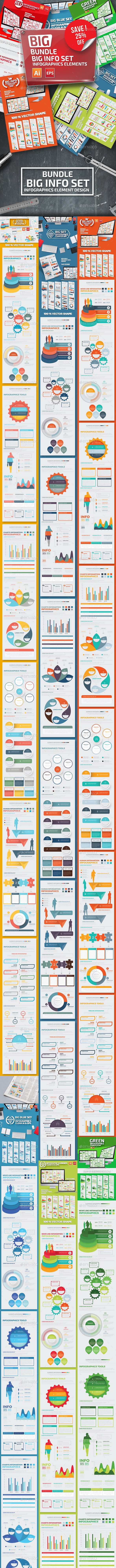 Bundle 10 in 1 Infographic Elements - Infographics