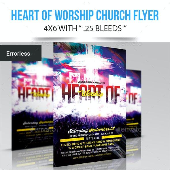 Heart of Worship Church Flyer