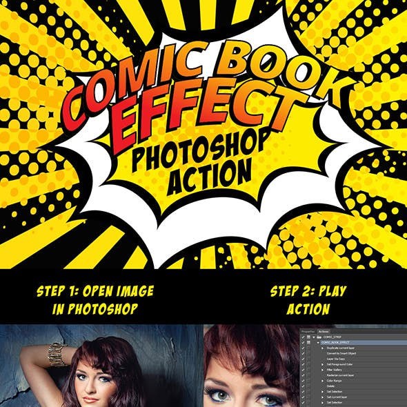 Universal Comic Book Effect Photoshop Action