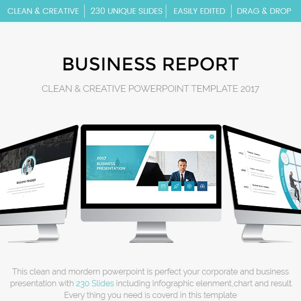 Business Anual Report  Powerpoint Template 2017
