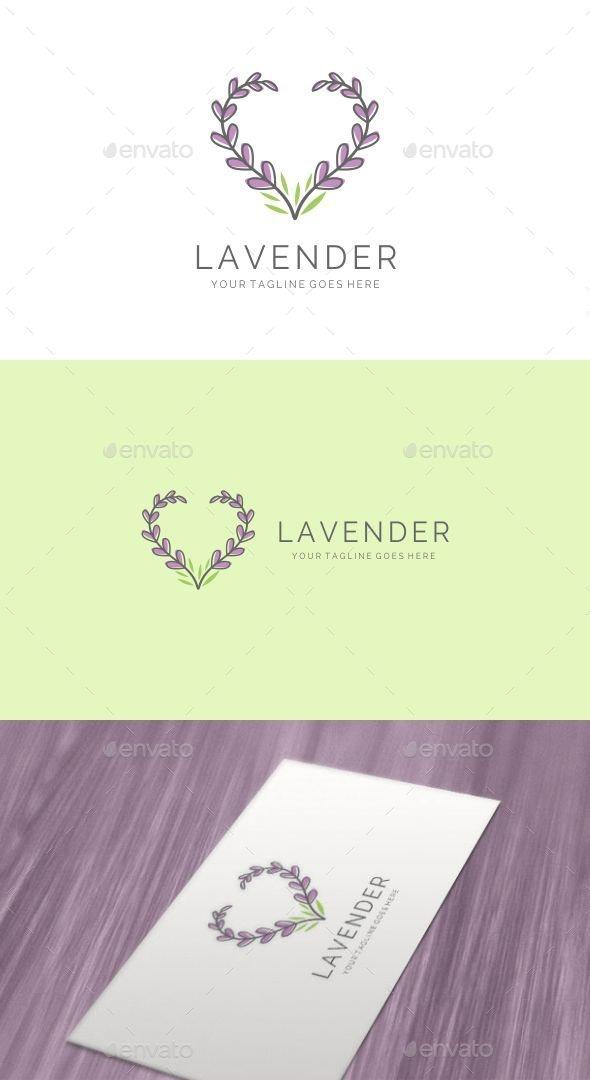 Elegant Feminine Love Lavender Logo