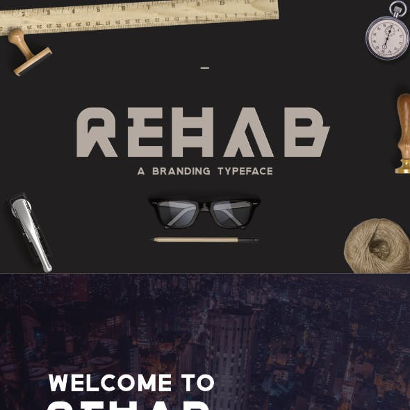 Rehab - The Display Sans Serif Font