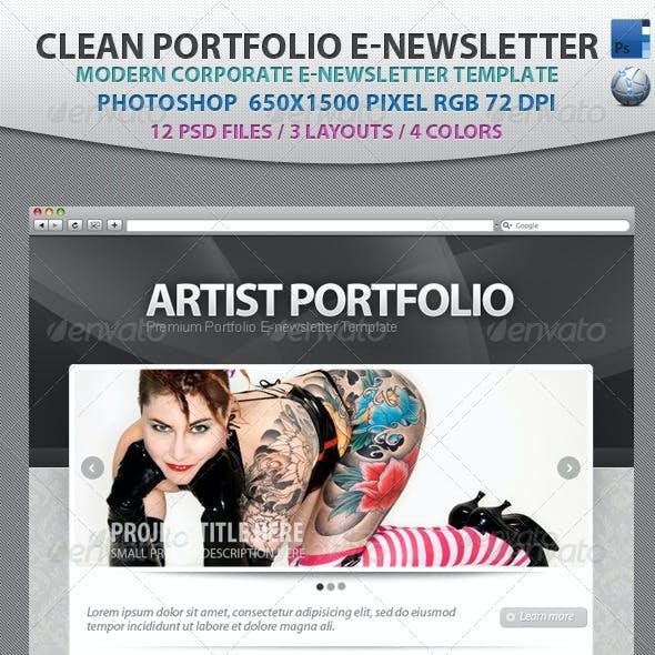Clean Portfolio E-newsletter Template