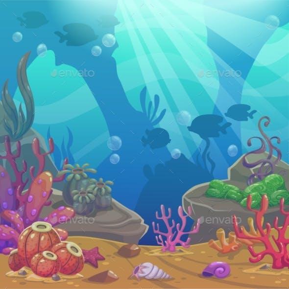 Cartoon Underwater Vector Illustration