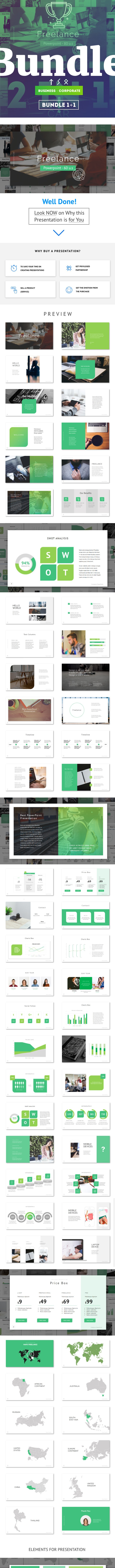 Bundle 2 in 1 PowerPoint - PowerPoint Templates Presentation Templates