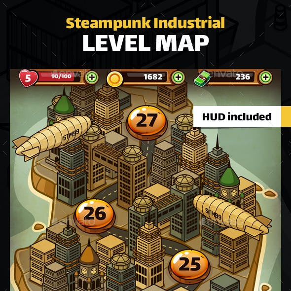 Steampunk Industrial Level Map