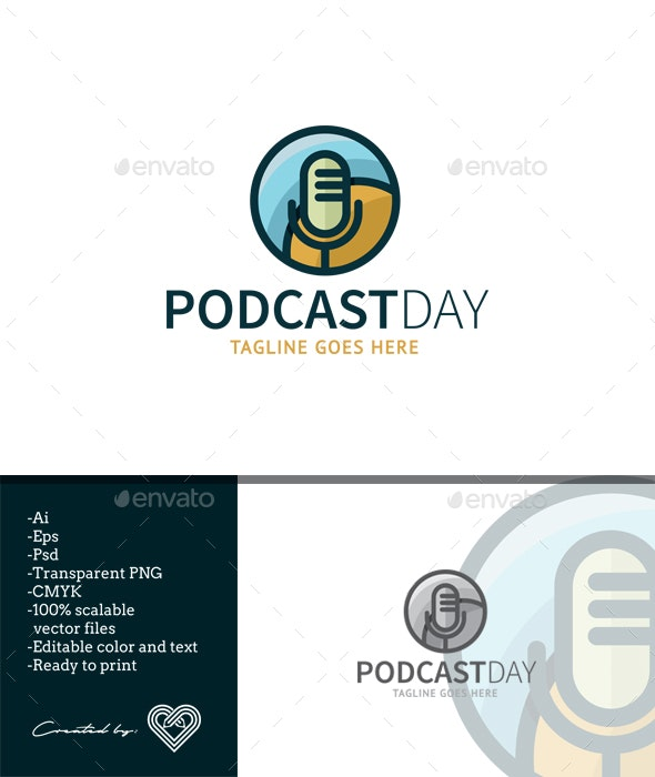 Podcast Day - Objects Logo Templates