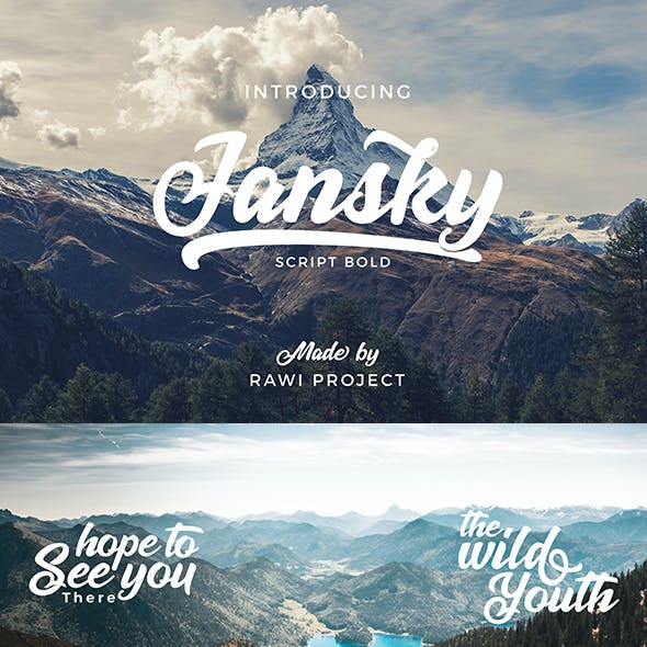 Jansky Script font