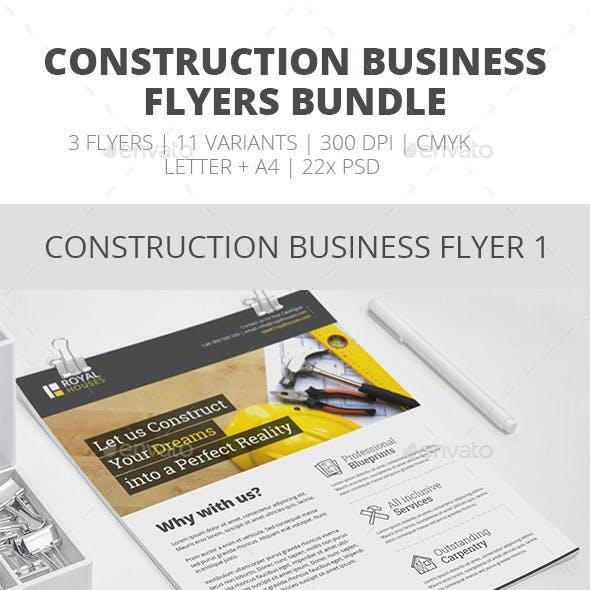 Construction Business Flyer - Bundle