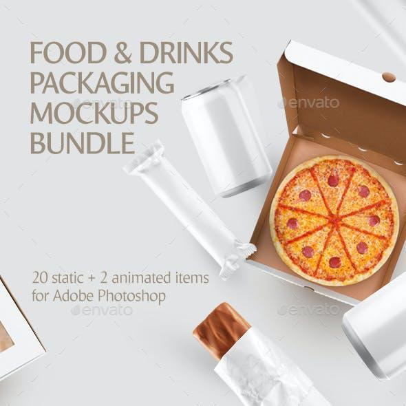 Food & Drinks Packaging Mockups Bundle