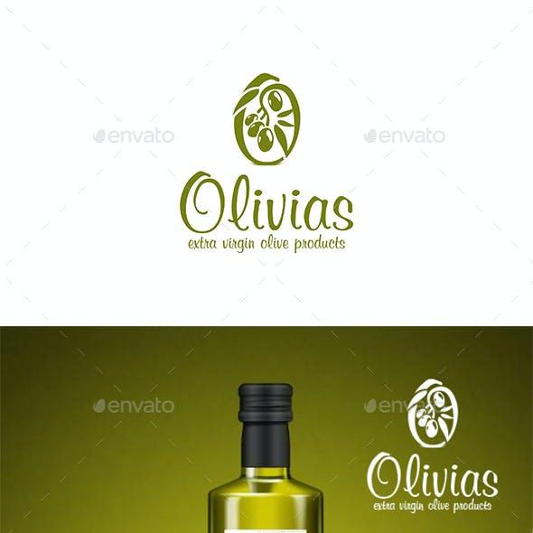 Olives Branch O Letter Logo - Olivias
