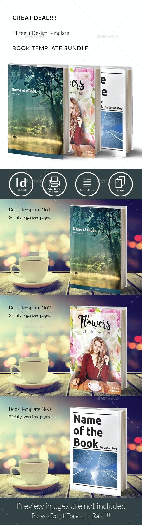Book Template Bundle - Print Templates
