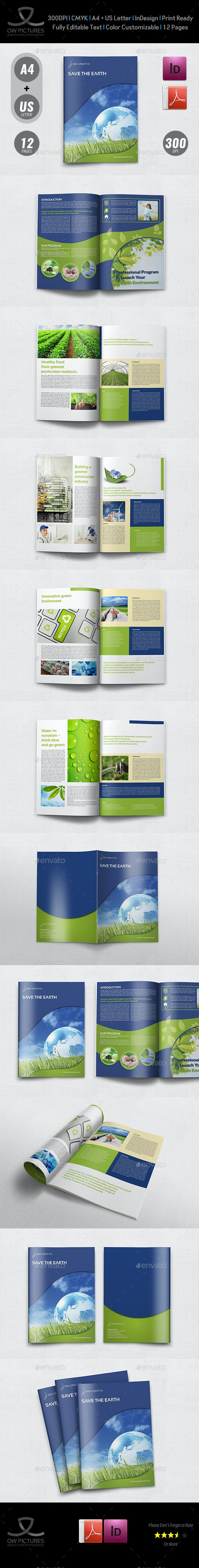 Environment ECO Brochure Template - 12 Pages - Brochures Print Templates