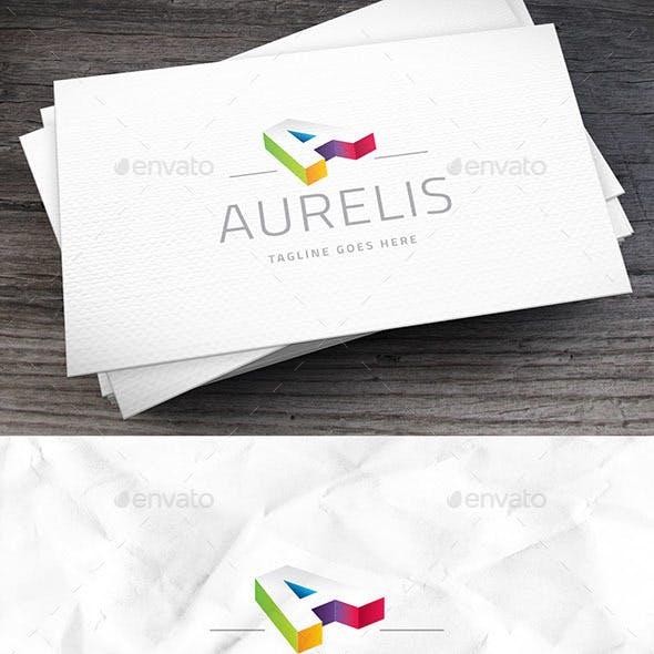 Aurelis Letter A Logo Template