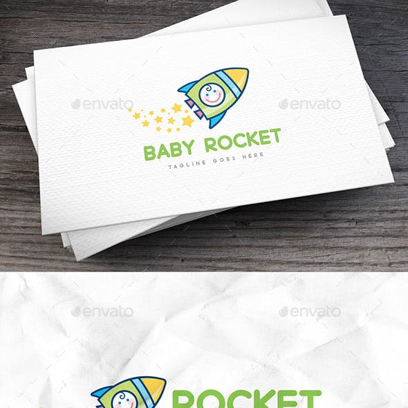 Baby Rocket Logo Template