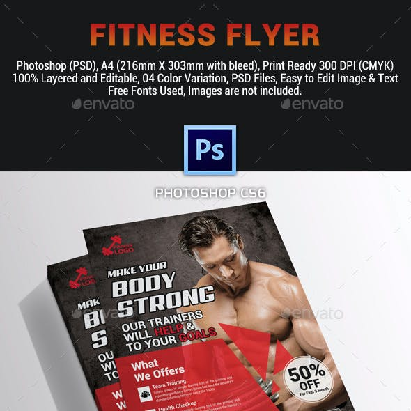 Fitness Flyer Template vol. 03