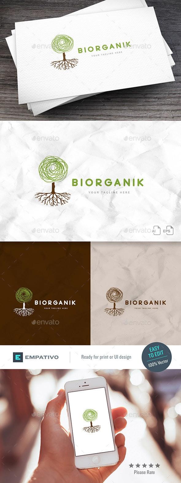 Biorganik Logo Template - Nature Logo Templates