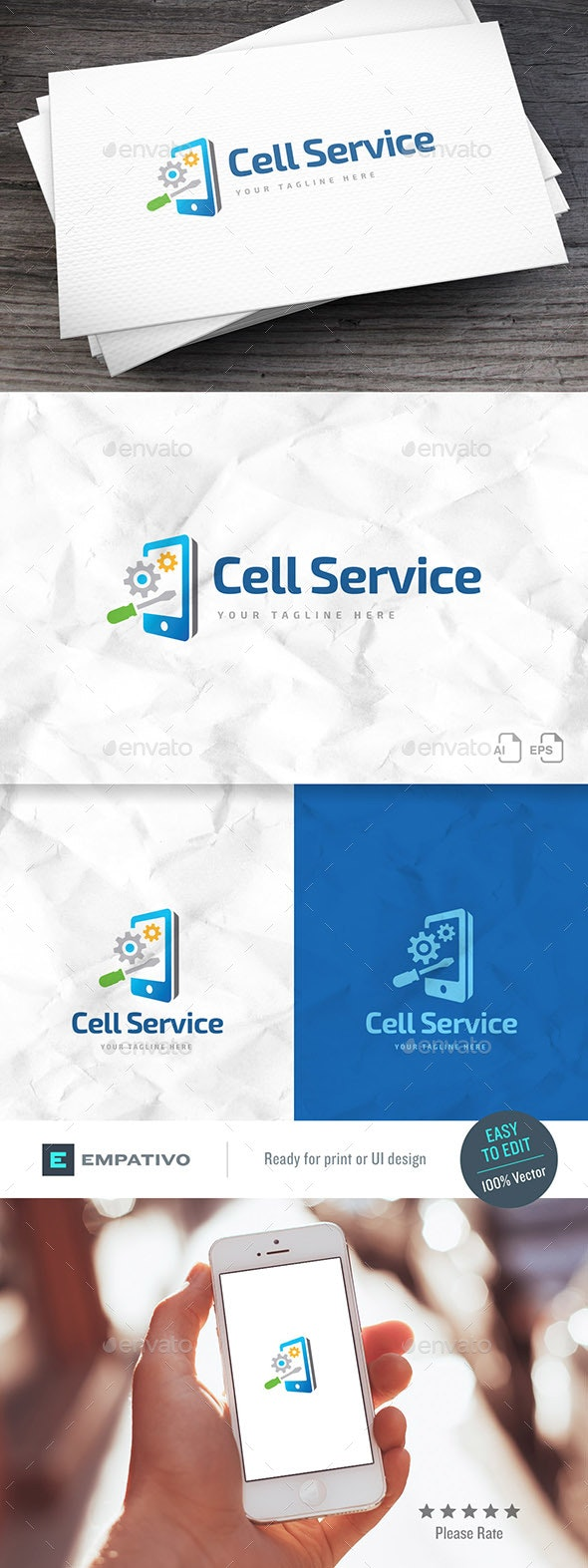 Cell Service Logo Template - Objects Logo Templates