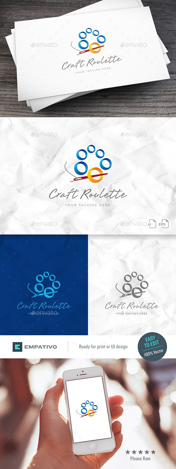 Craft Roulette Logo Template - Objects Logo Templates