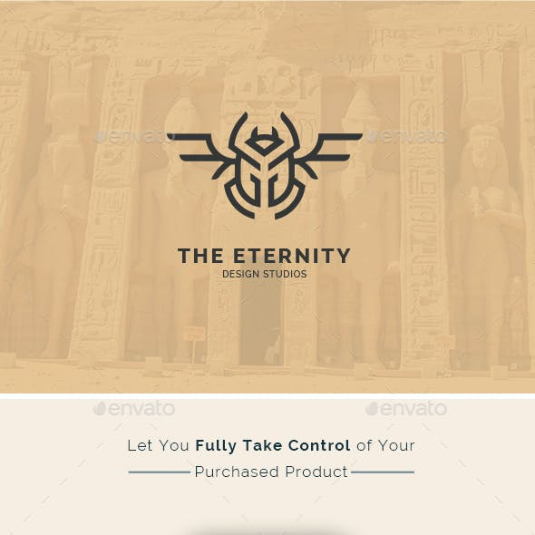 The Eternity - Scarab Beetle Insect symbol Creative Logo Template