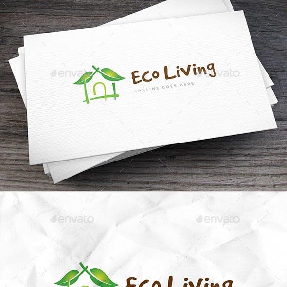 Eco Living Logo Template