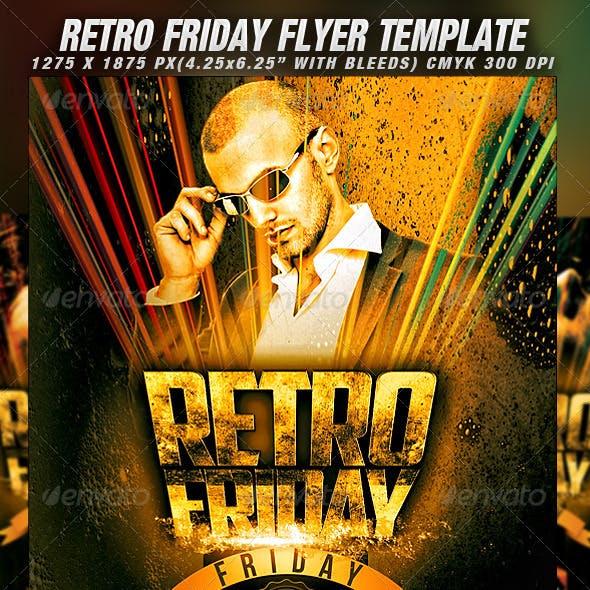 Retro Friday Flyer Template