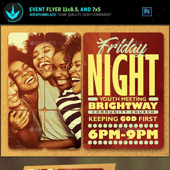 Youth Group Church Flyer Template