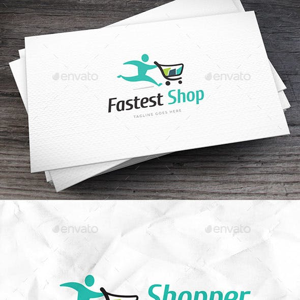 Fastest Shop Logo Template