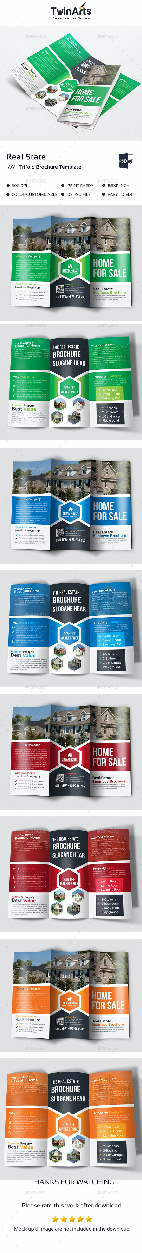 Real State Trifold Brochure - Brochures Print Templates