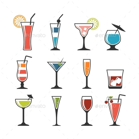 Set of Cocktails. - Food Objects
