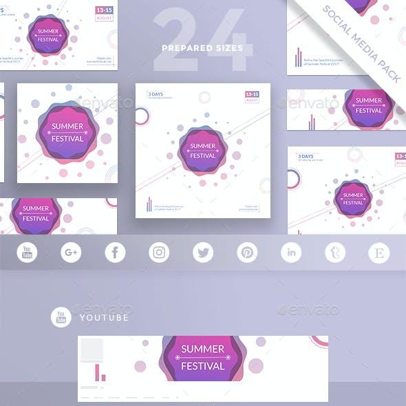 Summer Festival Social Media Pack