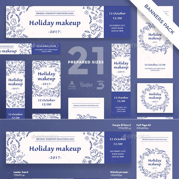 Holiday Makeup Banner Pack