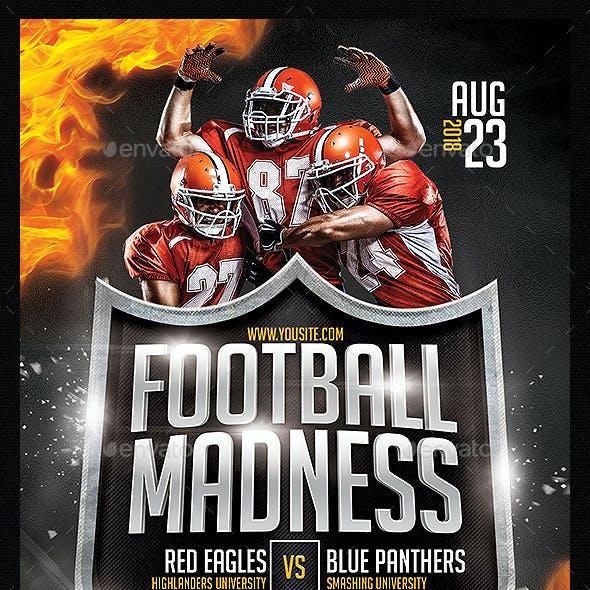 College Football Game Flyer