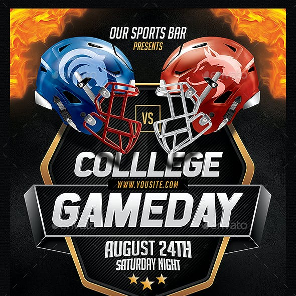 College Gameday Flyer Template