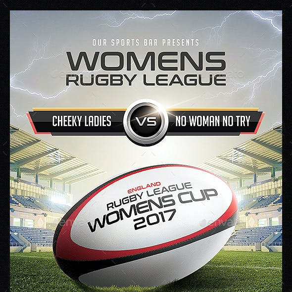 Rugby League Flyer Template